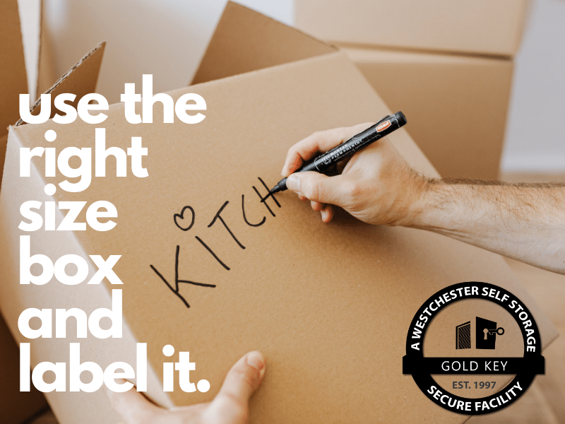 Storage Tips Somers Use The Right Sized Box