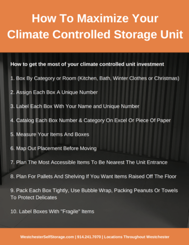 Tarrytown Self Storage - How To Maximize Your Climate Controlled Storage Unit